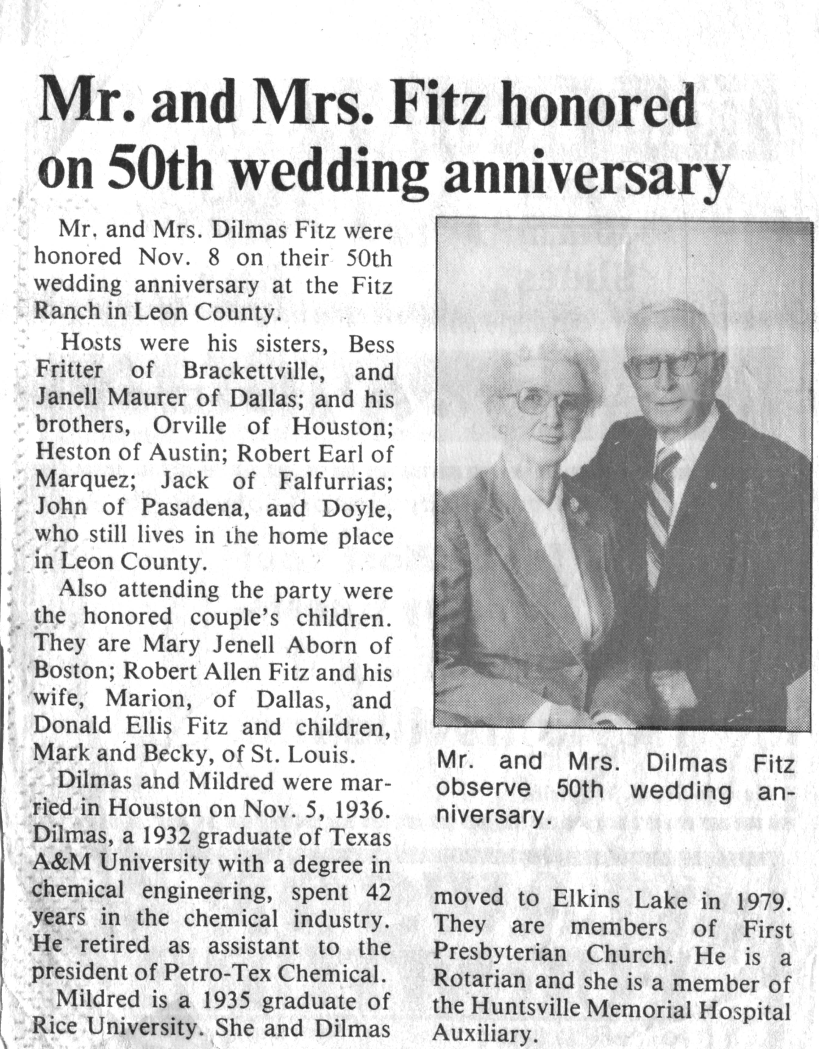 50th anniversary newspaper announcement wording